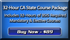 Purchase the 32-Hour BSIS Course Package