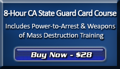 Purchase the 8-Hour BSIS Guard Card Course